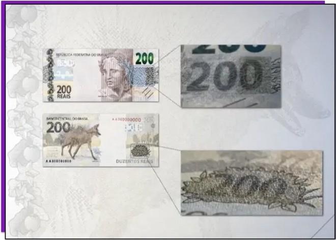 Nova cédula de R$ 200 é lançada; veja como identificar se uma nota é falsa 33