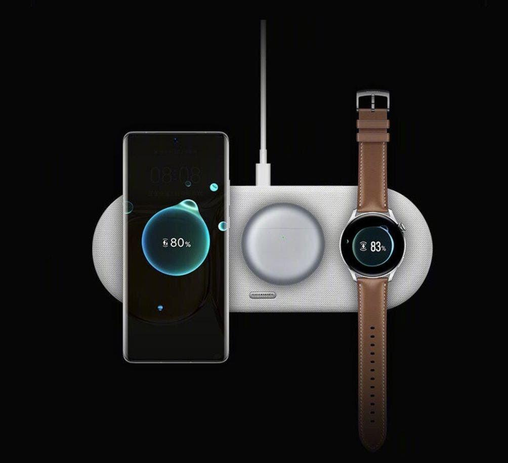 Huawei sai na frente da Apple e lana carregador sem fio com suporte para trs dispositivos